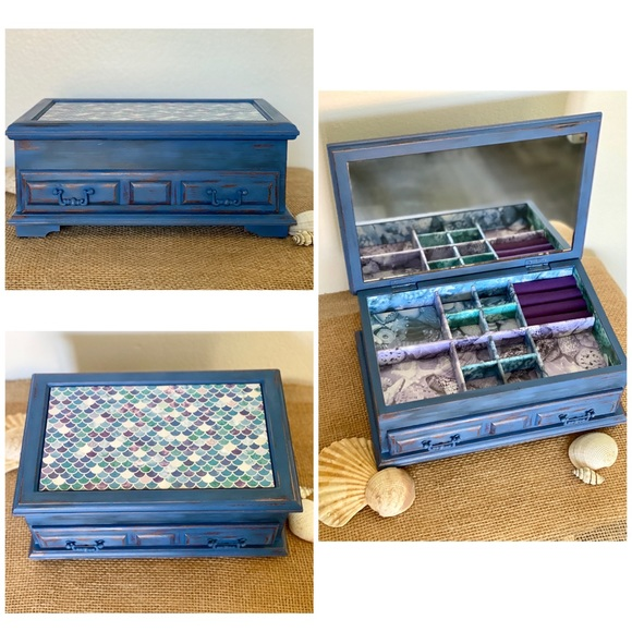Hand Crafted Other - Mermaid Inspired Jewelry Box • Upcycled